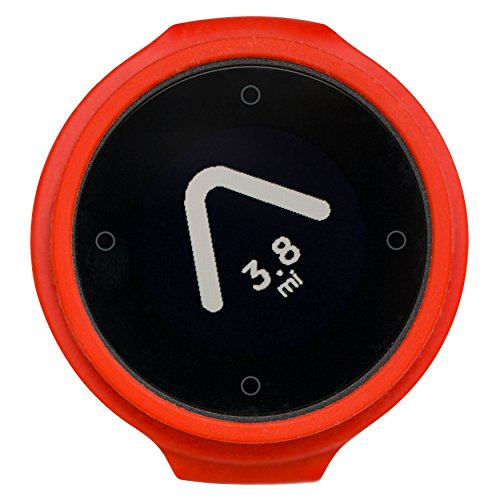 Beeline - Smart Compass Navigation for Bikes - Bluetooth GPS Bicycle Computer, Waterproof and Wireless - Hot Coal Red