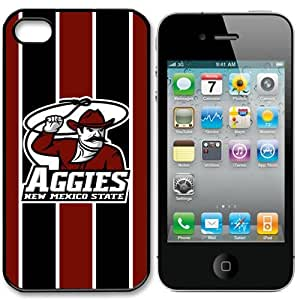 NCAA New Mexico State Aggies Iphone 4 and 4s Case Cover by runtopwell