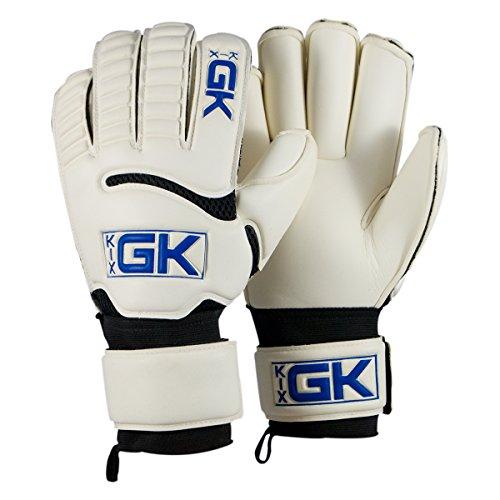 KixGK Pro Goalkeeper Gloves (Sizes 8-12): Professional Level Match-Training Adult & Youth Soccer Goalie Gloves