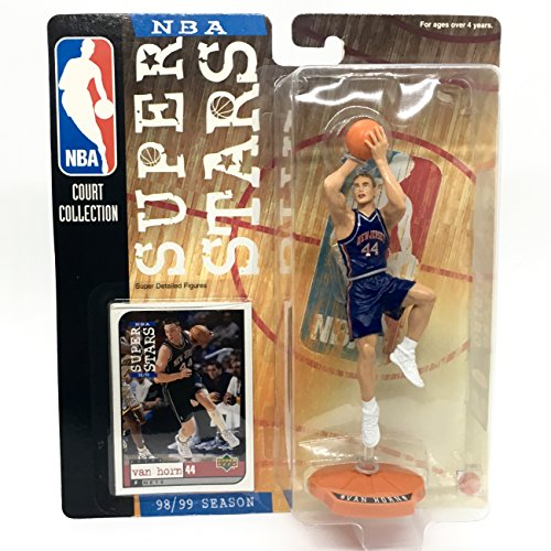 Starting Lineup KEITH VAN HORN / NEW JERSEY NETS 98/99 Season NBA SUPER STARS Super Detailed Figure, Display Base & Exclusive Upper Deck Collector Trading Card