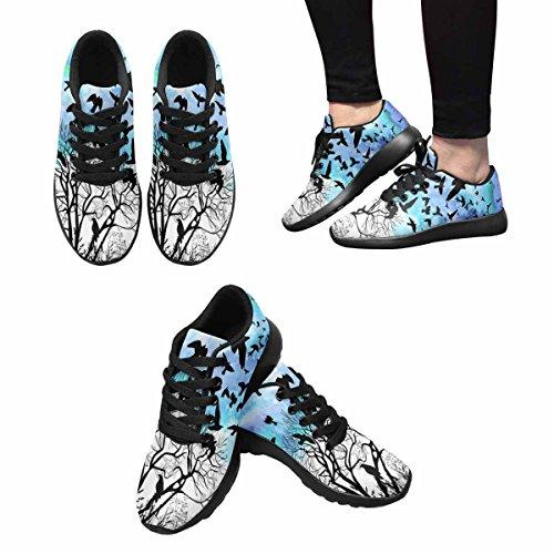 Interesse Per Le Donne Jogging Da Corsa Sneaker Leggero Go Easy Walking Comfort Sport Scarpe Da Corsa Un Albero Con Uccelli Volanti Multi 1