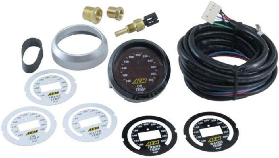 Transmission or Water Temperature Gauge AEM 30-4402 100-300F Oil
