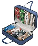 "WalterDrake Blue Shoe Storage Travel Bag, 19.5"" x 13.25"" x 5.5"""