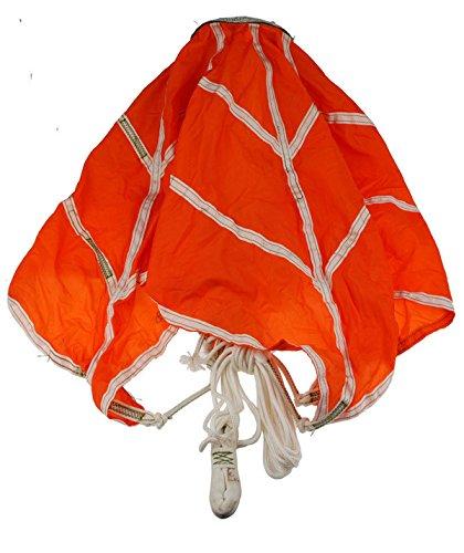 Military Parachute (CHINESE SURPLUS MILITARY TACTICAL ORANGE TOP PILOT PARACHUTE)
