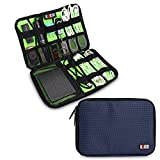 Bubm Universal Cable Organizer Electronics Accessories Case USB Drive Shuttle/ Healthcare & Grooming Kit (Dis Royal Blue- Medium)