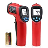 Blusmart Non-Contact Digital Laser Infrared Thermometer IR Temperature Gun -58?~1022? (-50?~550?) with LCD Display, Red & Black
