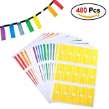 Color Label Printer - M-Aimee Self-Adhesive Cable Labels Tags Cable Label Stickers A4 Sheets Size Waterproof and Flexible Works with Laser Printer - 8 Assorted Colors 16 Sheets 480 Labels