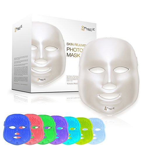 Project E Beauty LED Photon Therapy 7 Color Light Treatment Skin...