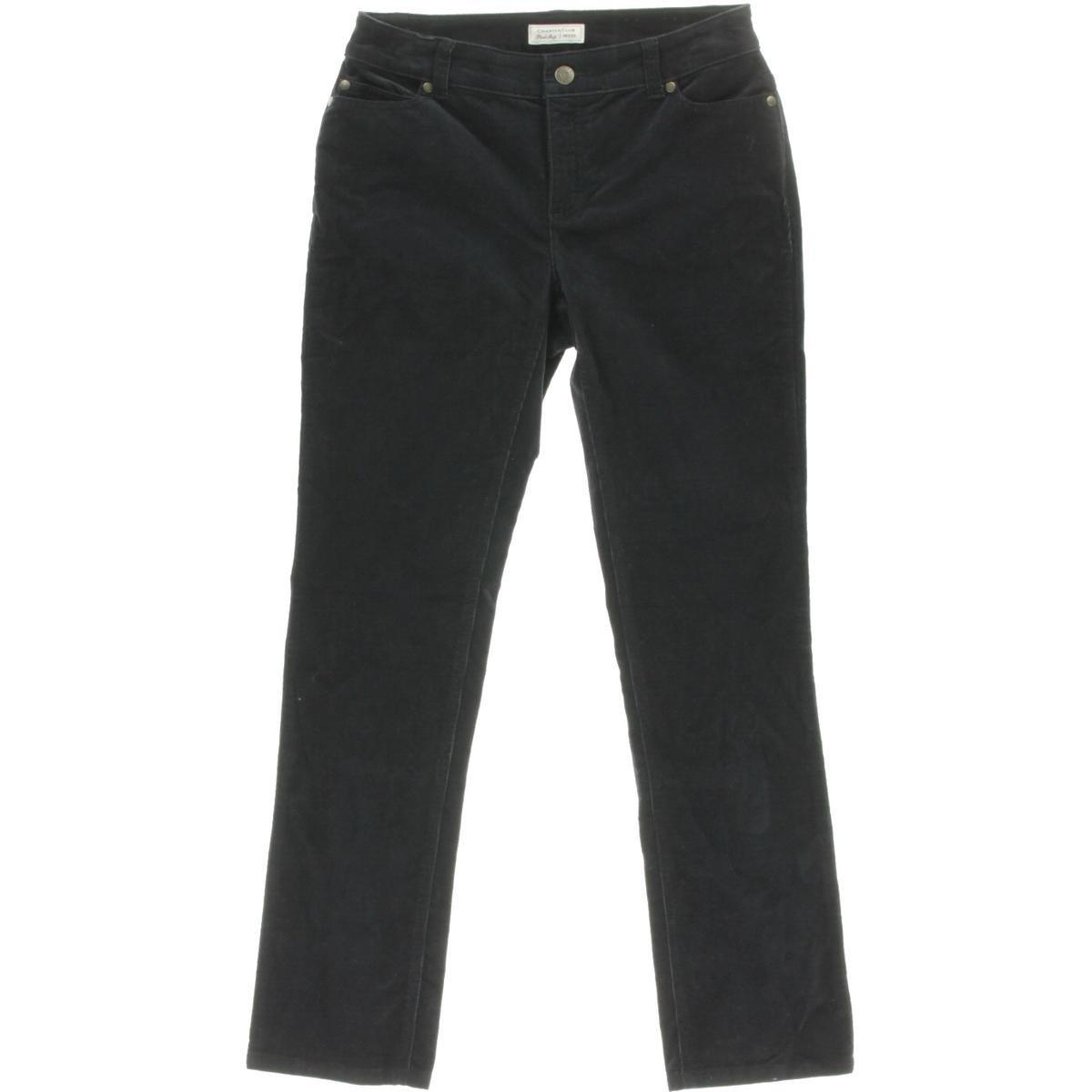 CHARTER CLUB Womens New 1468 Navy Straight Leg Casual Pants Petites 16 B+B 46027EY143