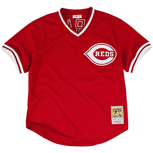 Barry Larkin Red Cincinnati Reds Authentic Mesh Batting Practice Jersey Large (44)