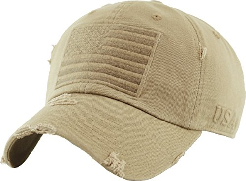 - KBVT-209 KHK Tactical Operator with USA Flag Patch US Army Military Baseball Cap  (Adjustable, (209) Khaki)