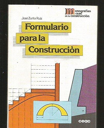 Descargar Libro Formulario Para La Construccion Online