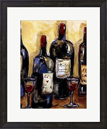Wine Bar (Detail) by Nicole Etienne Framed Art Print Wall Picture, Espresso Brown Frame, 19 x 23 inches