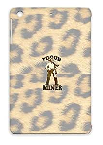 Proud Retro Illustration Coal Miner Pick Axe Miscellaneous Careers Professions Mine Skid-proof Yellow For Ipad Mini Case