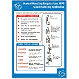 Stewart Superior Health and Safety Poster Laminated Manual Handling Regulations H420xW595mm Ref NS030