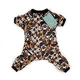 Cutebone Dog Pajamas Pug Dog Apparel Dog Jumpsuit Pet Clothes Pajamas P04(L)
