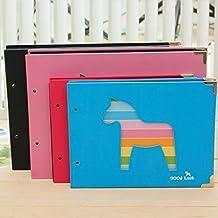 "Toonol Free Corner Stickers loose-leaf 30 Black sheets Dark Cute Horse 5"" DIY Photo Album"