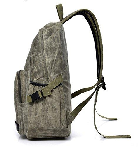 Femme Daypacks à Militaire AgooLar dos Achats Sacs randonnée Vert Daypack de Zippers Toile Hqqd58