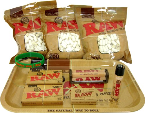 (Bundle - 10 Items - RAW Rolling Paper R.Y.O (Roll Your Own) Cigarette Kit)