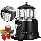 Happybuy Commercial Hot Chocolate Machine 400W Chocolate Beverage Dispenser 5 Liter Hot Chocolate Maker & Milk Frother 110V Beverage Dispenser Machine for Restaurants Bakeries Cafes
