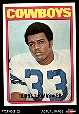 1bd7b9c35ae 1972 Topps # 180 Duane Thomas Dallas Cowboys (Football Card) Dean's Cards 5  -