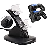 Anrain Dual PS4 Gaming Controller LED Charging Stand USB Charger Dock Station Cradle For Sony Playstation 4 by Anrain