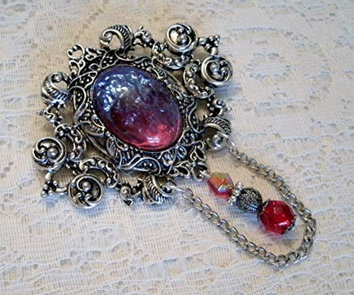 - Dragons Breath Fire Opal Brooch, handmade jewelry victorian gothic renaissance medieval edwardian art nouveau art deco cloak pin tudor