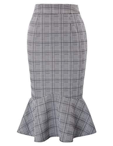 Kate Kasin Women's Knee Length Pencil Skirts Slim Fit Business Skirt XX-Large KK1257-1