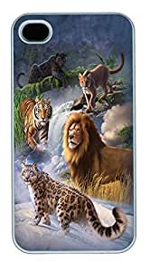 IPhone 4S Cases Global Big Cats Polycarbonate Hard Case Back Cover for iPhone 4/4S White