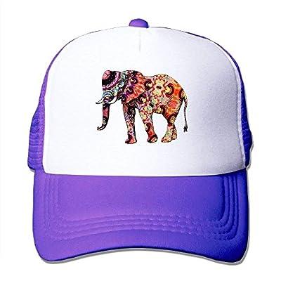 Tribe Elephant Adjustable Snapback Baseball Cap Mesh Trucker Hat from cxms
