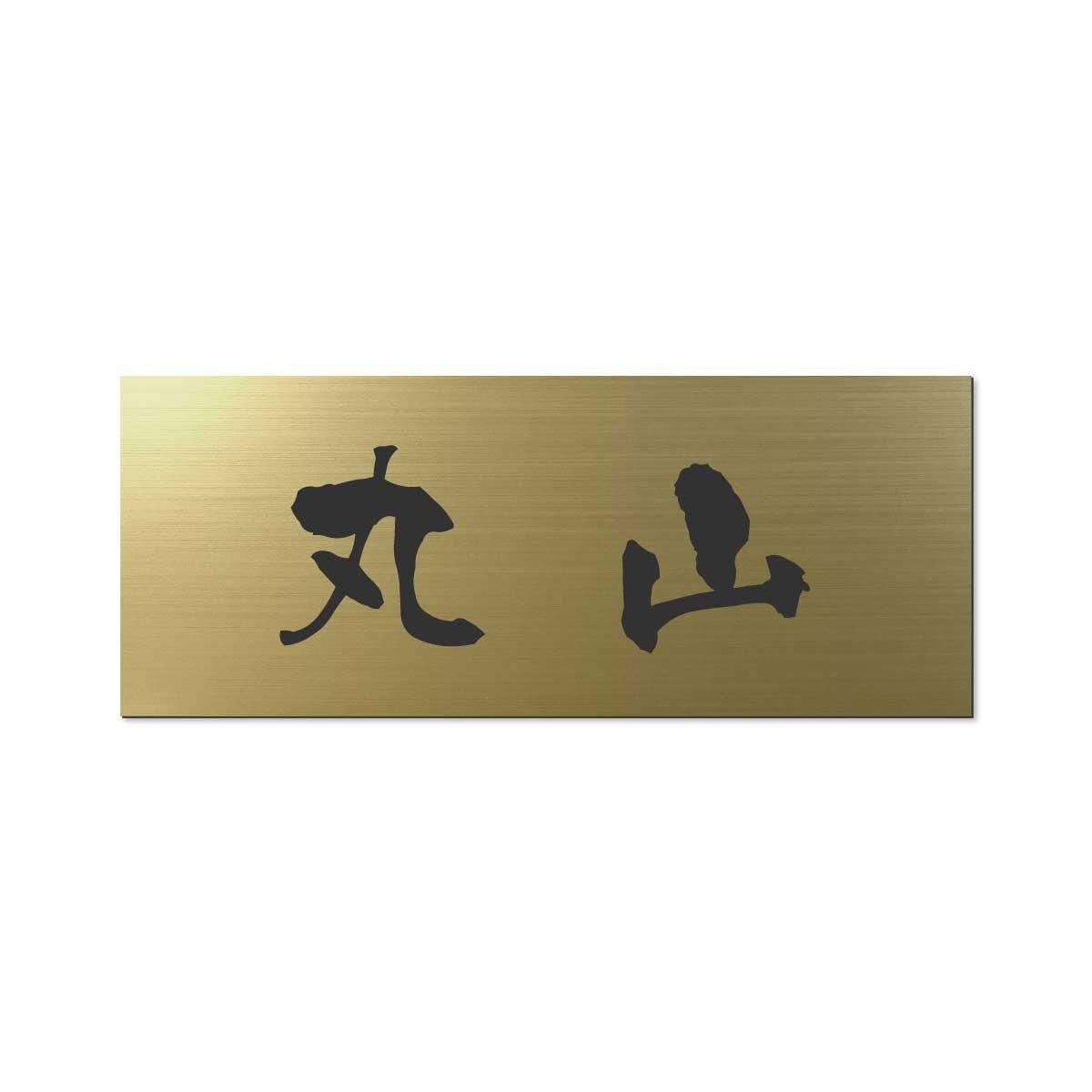 丸三タカギ 彫り込み済表札 アクリル APY2-G-1-3-丸山 【完成品】   B01E86AWTU