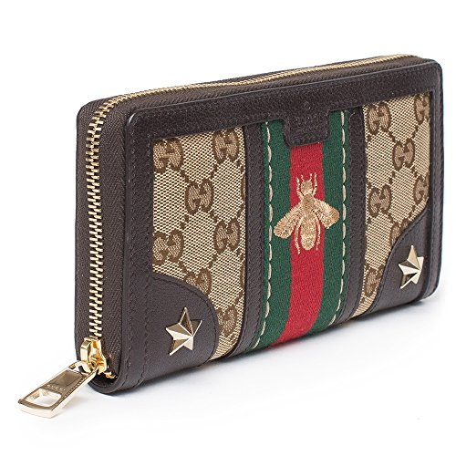 6c16f40fdd6a61 Jual Gucci Bee Web Wallet Signature Star Box Leather Authentic New ...