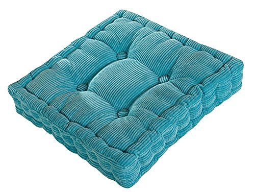 Tufted Thick Chair Pad Seat,Square Boosted Pillow Cushion,Ideal for Home,Office,School,Travel,15'' x15'' Blue by KAMA BRIDAL