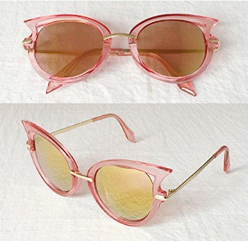 Color 7 sol sol Gafas Ultravioleta X562 de Manera Gafas Coreana Gafas de protección Las protección de de la de 8 señoras la HwqA4nX51x