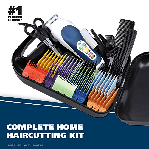 Wahl Color Pro Complete Hair Clipper Kit with Extended Accessories & cape (# 79300-1001)