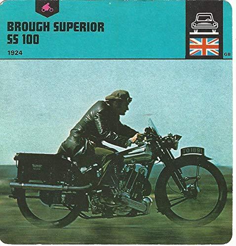 1978 Edito-Service, Automobile Rally Card, 29.22 Brough Superior Motorcycle