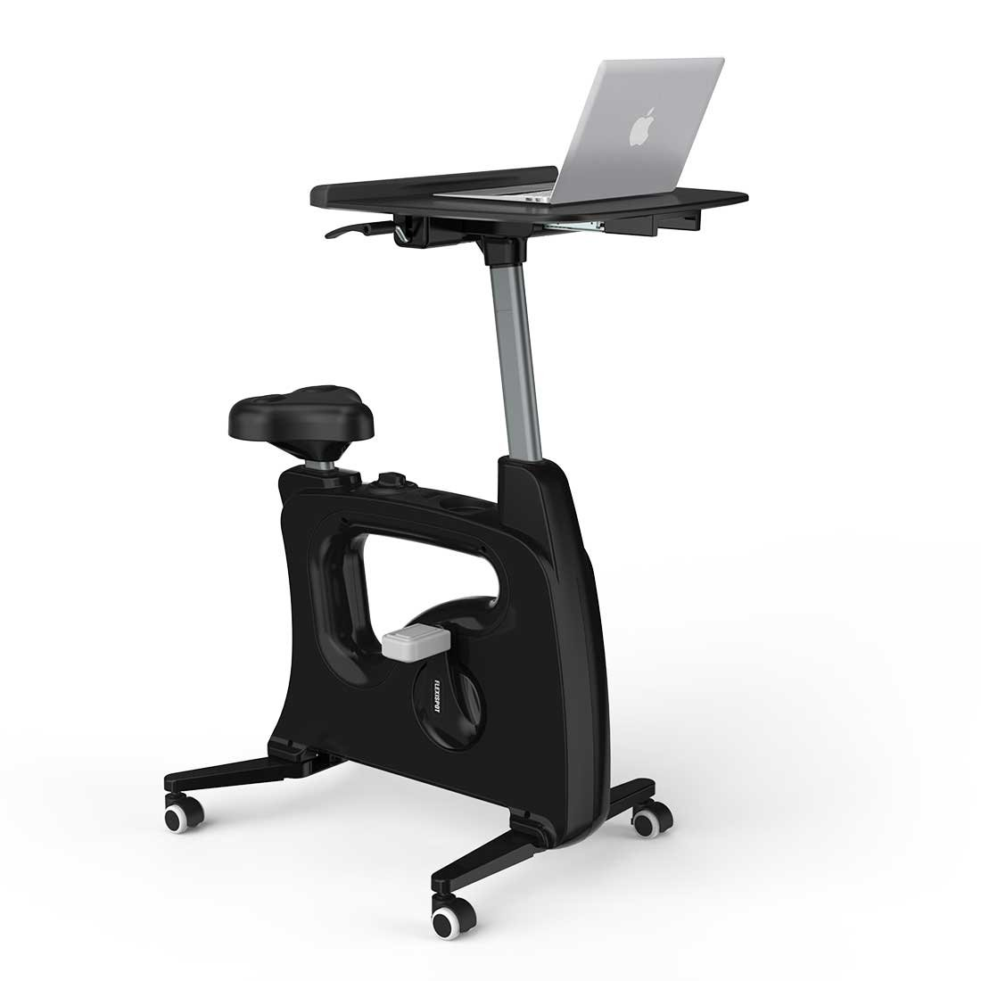 FLEXISPOT Home Office Upright Stationary Fitness Exercise Cycling Bike Height Adjustable Standing Desk - Deskcise Pro Black by FLEXISPOT (Image #1)