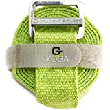Gradient Fitness Yoga Strap, Friction-less Easy-Feed Buckle, Super Soft Cotton/Polyester Blend Webbing, Free eGuide. (8 Feet)