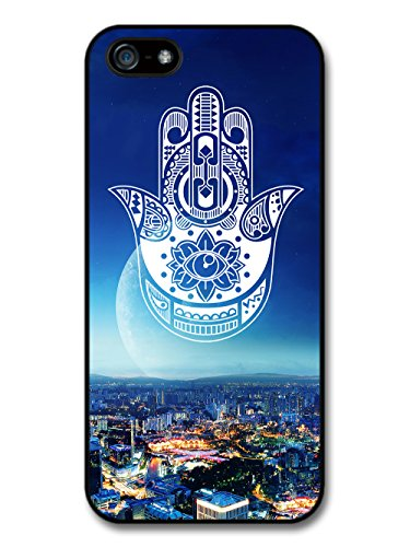 Hamsa from Buddhist Faith in Sky, Spiritual Religion and Blue Moon coque pour iPhone 5 5S