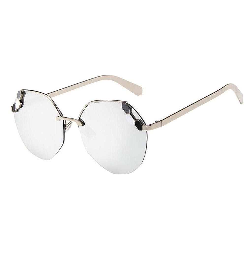 9a9e8dd6417f3 TOMATOA Women Men Summer Glasses Vintage Retro Cat Eye Unisex Fashion  Aviator Mirror Lens Travel Sunglasses Metal Frame Luxury Aviator Travel  Eyewear (A)  ...