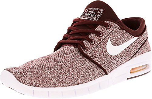 Nike Stefan Janoski Max, Unisex Adults' Low-Top Sneakers Rot (Dark Team Red/Circuit Orange/White)