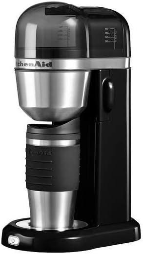 Kitchenaid Onyx - Cafetera individual, 700 W, color negro: Amazon ...