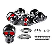 Custom Black Skeleton Skull Bolt Nuts Screws 6mm For Yamaha Raider S XV 1900 XV1900