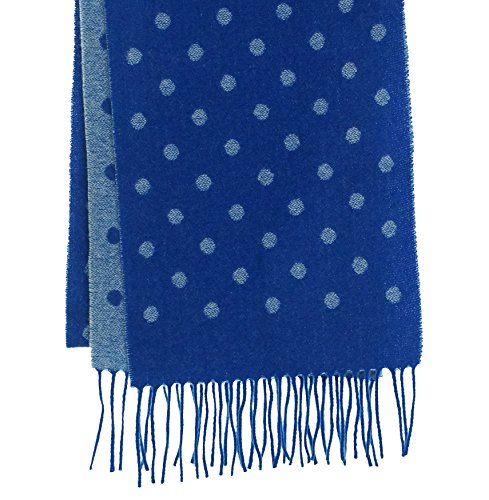 Dotted Scarf - Charter Club Women's Dotted Cashmere Scarf Royal Blue