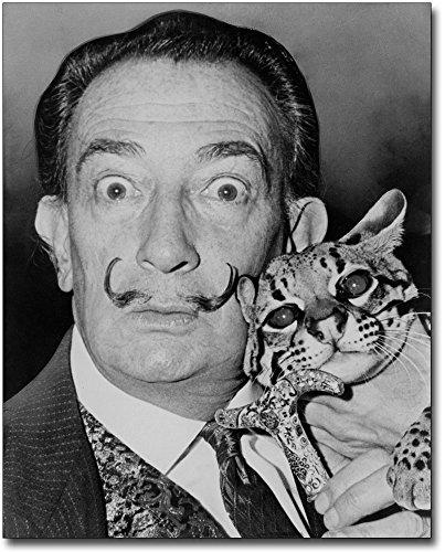 Salvador Dali with Ocelot 1965 Portrait 30x40 Silver Halide Photo Print ()
