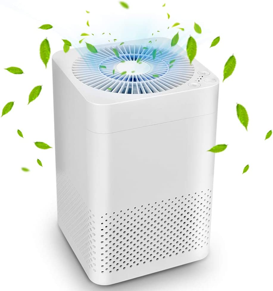 Air Purifier - True HEPA Air Purifiers for Home, Auto Mode & Sleep Mode, Reduce Pet Dander, Household Odor, Smoke & Dust, 3-in-1 Air Filter, Up to 161.46 sq. Home & Office, Auto Replacement