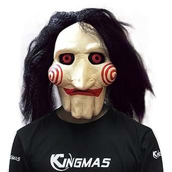 Halloween Mask Movie Jigsaw Puppet - Full Mask Head Latex