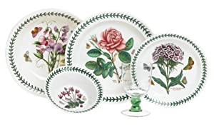 Portmeirion botanic garden 17 piece for Portmeirion dinnerware set of 4 botanic garden canape plates