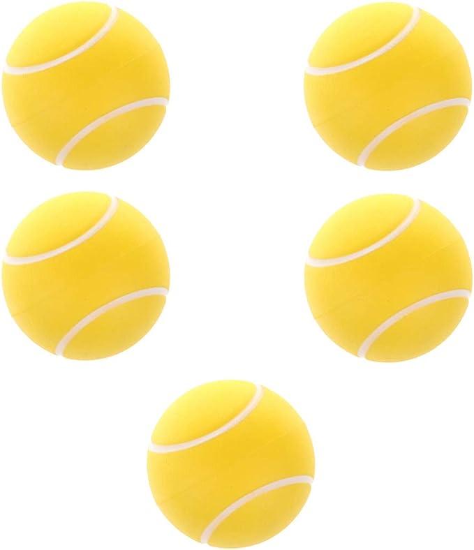 Fenteer 5pcs 2,5  Balles Balles Rebondissantes Eva Balles en Mousse Molle Jouets pour Animaux De Compagnie Kid Orange