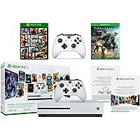 Microsoft Xbox One S 1TB Console Starter Bundle + Grand Theft Auto V + Titanfall 2 + Extra Xbox Wireless Controller